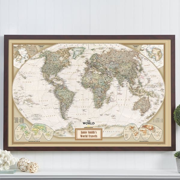 Personalized pin your journeys travel map is a thoughtful gift idea for the woman or man who enjoys traveling!