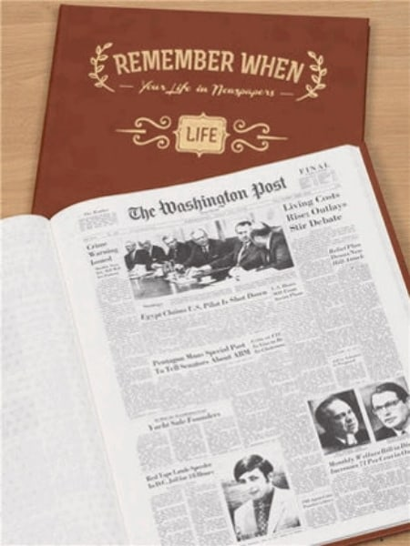 Gifts from The Day You Were Born: Impress someone special with The Washington Post Birthday book...every birthday front page for their entire life!