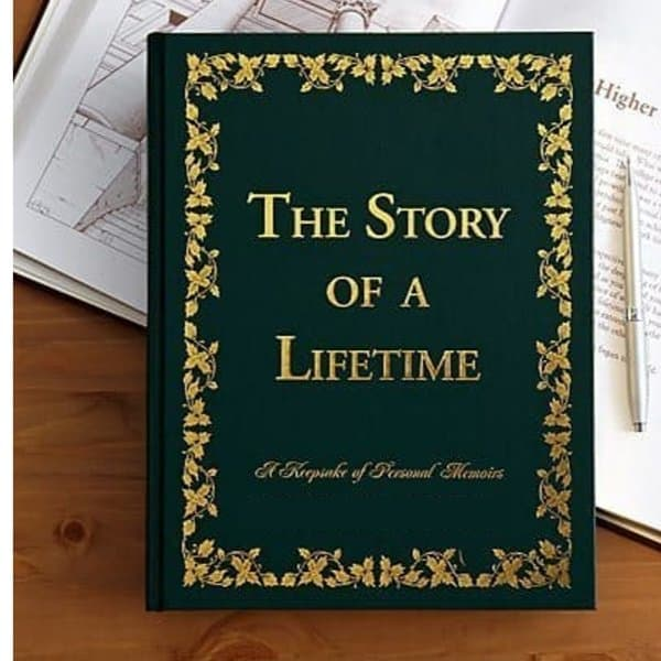 Story of a Lifetime memories book is a thoughtful gift for 75 year old female...she'll love writing down her lifetime memories!