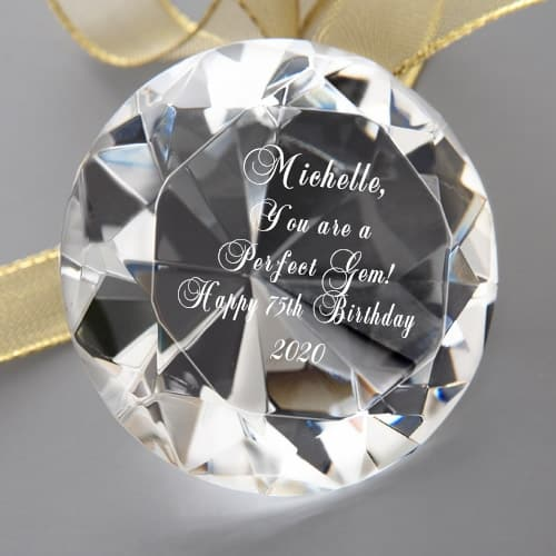Unique 75th Birthday Gifts for Women - Looking for sentimental gift ideas for a 75 year old woman? Let her know she's a treasure with this sparkling crystal gem!