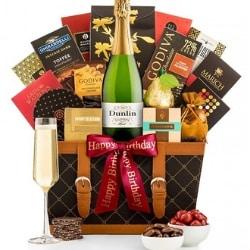 Happy Birthday Champagne Gift Basket
