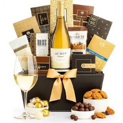 Wine Gift Baskets with Personalized Ribbon- Choice of Styles from $50