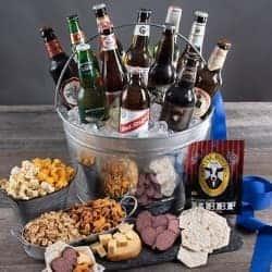 Gourmet Beer and Snacks Gift Basket