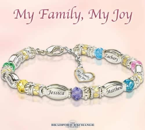 Looking for a special present for your grandmother? She'll love this stunning bracelet that features her grandkids' names and birthstones!