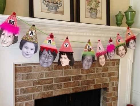 Fun DIY birthday photo banner is sure to be the hit of your party!