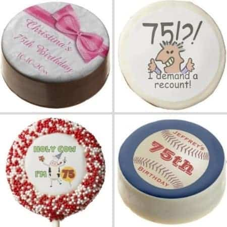Personalized cookie birthday party favors - Send your guests home with a sweet surprise! Personalized cookies are available in dozens of designs. Choose from chocolate dipped oreos or shortbread cookies. A delicious party favor that they are sure to enjoy!