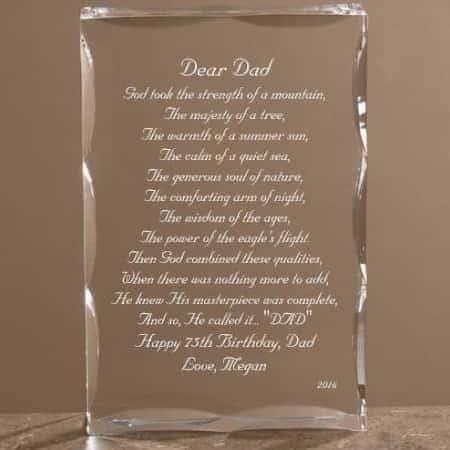 Dear Dad Personalized Keepsake