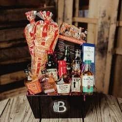 The Ultimate Whiskey Sampler Gift Basket for Men